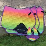 Weatherbeeta Prime Ombre All Purpose Saddle Pad - Rainbow