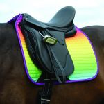 Weatherbeeta Prime Ombre Dressage Saddle Pad - Rainbow