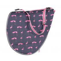 Shires Saddle Bag - Flamingo