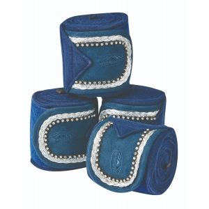 Weatherbeeta Fleece Bling Bandage 4 Pack