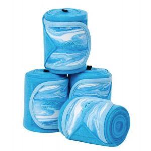 Weatherbeeta Prime Marble Fleece Bandage 4 Pack - Blue Swirl