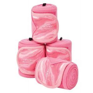 Weatherbeeta Prime Marble Fleece Bandage 4 Pack - Pink Swirl