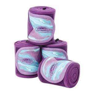Weatherbeeta Prime Marble Fleece Bandage 4 Pack - Purple Swirl