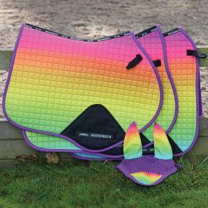 Weatherbeeta Prime Ombre All Purpose Saddle Pad - Rainbow Lust