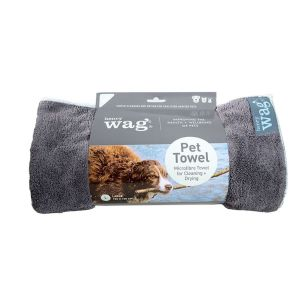 Henry Wag Microfibre Towel - Blue/Grey