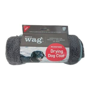 Henry Wag Drying Coat - Blue/Grey