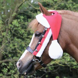 Hy Christmas Santa Bridle Set (Set of 3) - Red/White