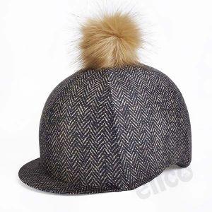 Elico Brown Tweed Lycra Hat Cover