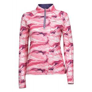 Weatherbeeta Ruby Printed Long Sleeve Top - Pink Swirl Marble Print