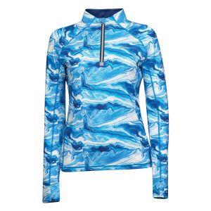 Weatherbeeta Ruby Printed Long Sleeve Top - Blue Swirl Marble Print