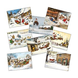 Hy Equestrian Thelwell Xmas Cards - Pack of 8