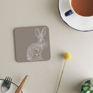 Deckled Edge Melamine Coasters - Pack of 6 - Hare