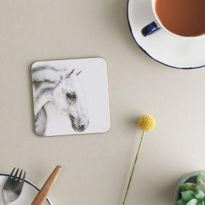 Deckled Edge Melamine Coasters - Pack of 6 - Flea Bitten Grey