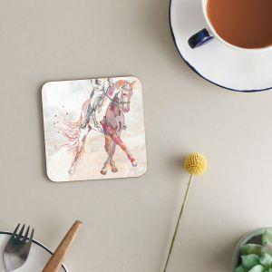 Deckled Edge Melamine Coasters - Pack of 6 - Dressage