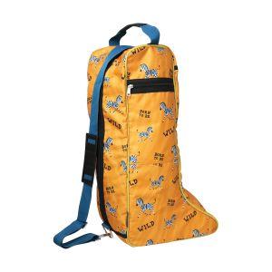 Hy Equestrian Born To Be Wild Boot Bag - Safari Orange/Petrol