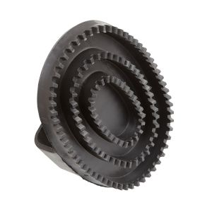 Bitz Curry Comb Rubber Black - Large