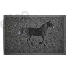 Elico Door Mat - Horse Design - Grey