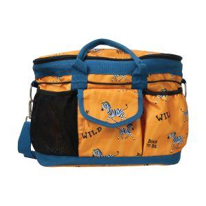 Hy Equestrian Born To Be Wild Grooming Bag - Safari Orange/Petrol