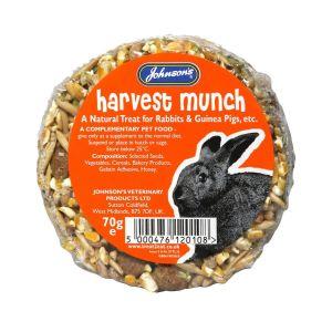 Johnson's Veterinary Harvest Munch for Rabbits/Guinea Pig - 70gm