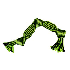 Jolly Pets Knot-n-Chew Squeaker Rope 3 Knot - Green/Black