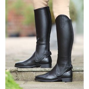 Shires Childs Synthetic Leather Gaiters