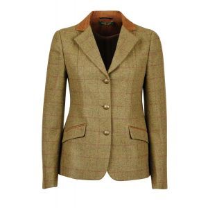 Dublin Albany Tweed Suede Collar Tailored Jacket - Ladies