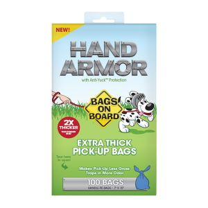 Bags On Board Hand Armour 2X Extra Thick Pick-Up Bags - 100 Pack