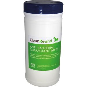 CleanRound AntiBac Surfactant Wipes x 200 Pack