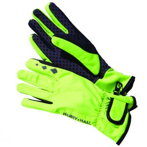 Harry Hall Hi Viz Softshell Gloves