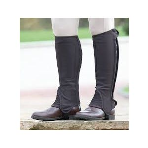 Shires Synthetic Nubuck Half Chaps - Childs