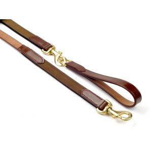 John Whitaker Leather Draw Reins with Elastic Insert