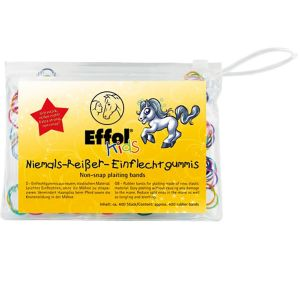Effol Kids Non-Snap Plaiting Bands Multi-Coloured 400 Pack