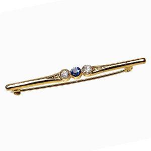 Elico Stock Pin-3 Stone (Blue)