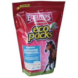 Equimins Activated Charcoal 1Kg Eco Pack