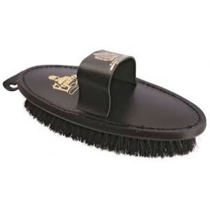 Equerry Body Brush Leather with Natural Bristle
