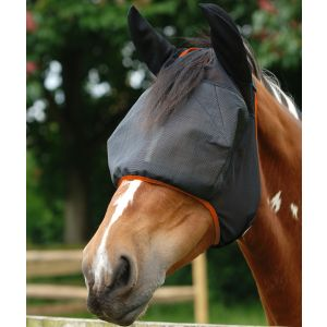 Equilibrium Field Relief Midi Fly Mask with Ears - Black/Orange