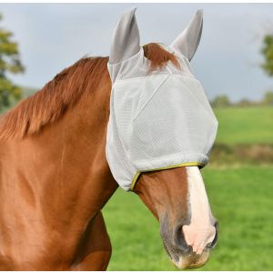 Equilibrium Field Relief Midi Fly Mask with Ears - Grey/Yellow