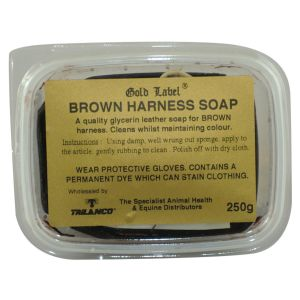 Gold Label Harness Soap Brown 250gm