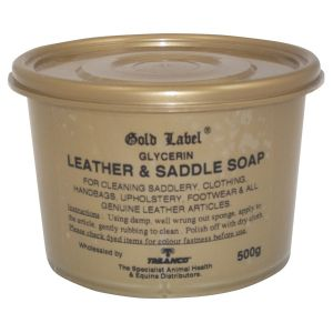Gold Label Glycerin Leather & Saddle Soap 500gm