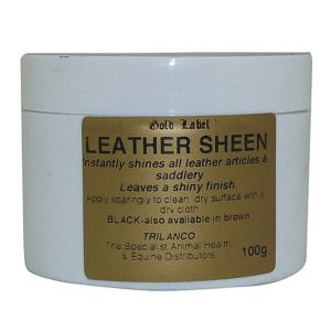 Gold Label Black Leather Sheen 100gm