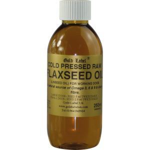 Gold Label Canine Flaxseed Oil - 250ml