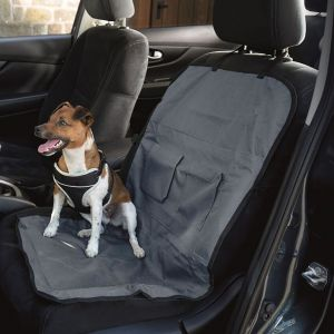 Henry Wag Single Car Seat Cover - Grey/Black