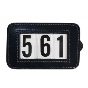 Hy Leather Bridle Number Holder - Square