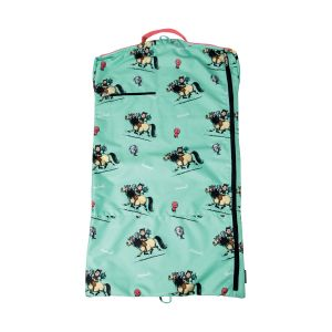 Hy Equestrian - Thelwell Collection - Children's Trophy Garment Bag - Mint/Pink