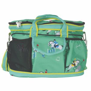 Hy Equestrian Competition Ready Grooming Bag - Green/Dark Green/Yellow