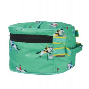Hy Equestrian Competition Ready Hat Bag - Green/Dark Green/Yellow