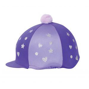 Hy Equestrian Glitter Magic Hat Cover - Purple/Lilac