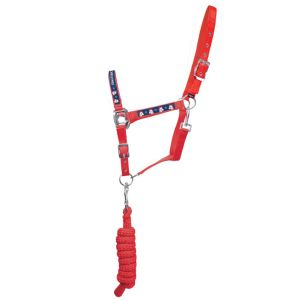 Hy Little Rider Christmas Headcollar and Lead Rope