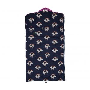 Hy Unicorn Garment Bag - Navy/Pink
