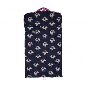 Hy Unicorn Garment Bag - Navy/Pink
